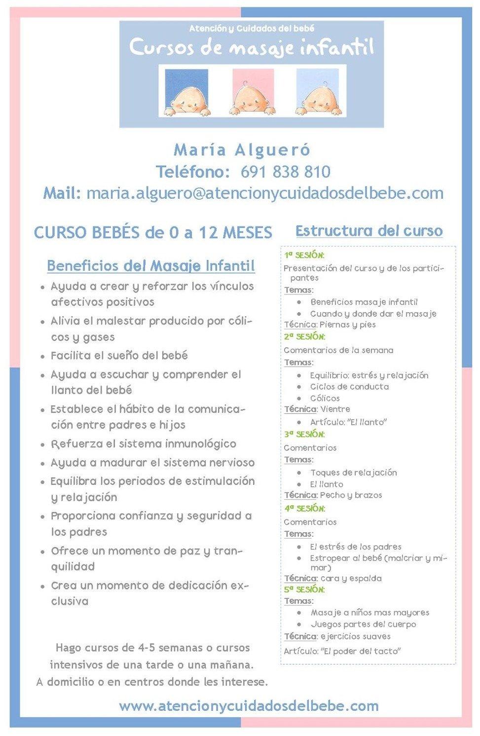 Poster atencion y cuidados del bebé
