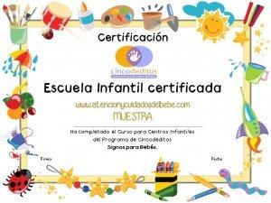 muestra Diploma Escuela Infantil 2011