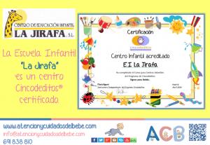 la jirafa centro cincodeditos certificado