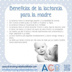 beneficios lactancia para la madre