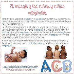 el masaje y los niños y niñas adoptados
