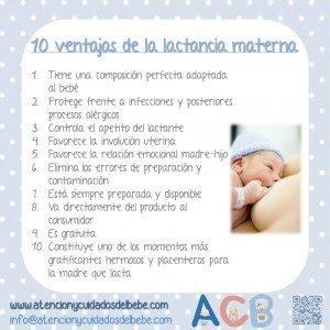 ventajas lactancia materna