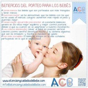 beneficios del porteo para bebes