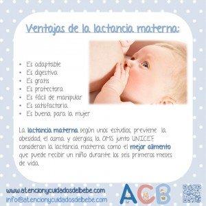 ventajas de la lactancia materna b