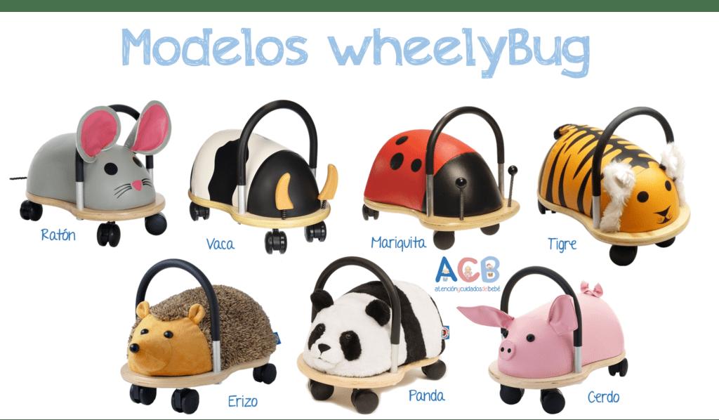 Modelos de los correpasillos wheelybug