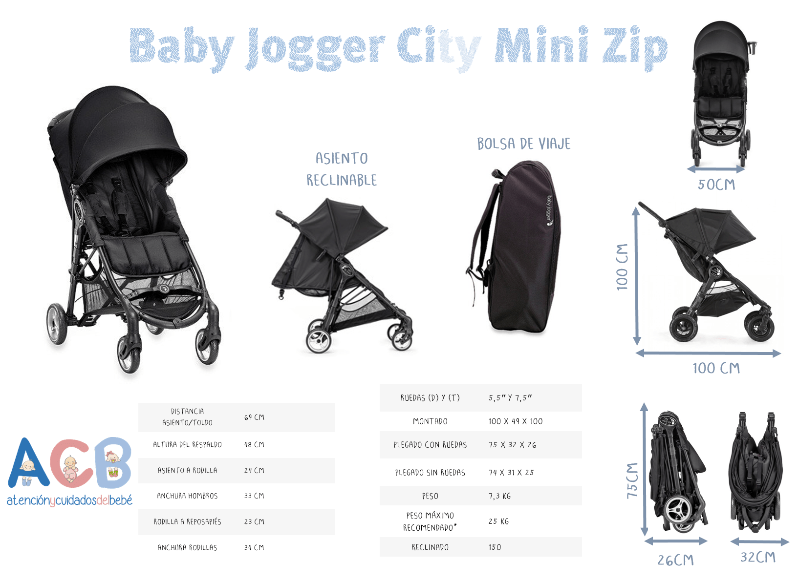 city mini zip baby jogger