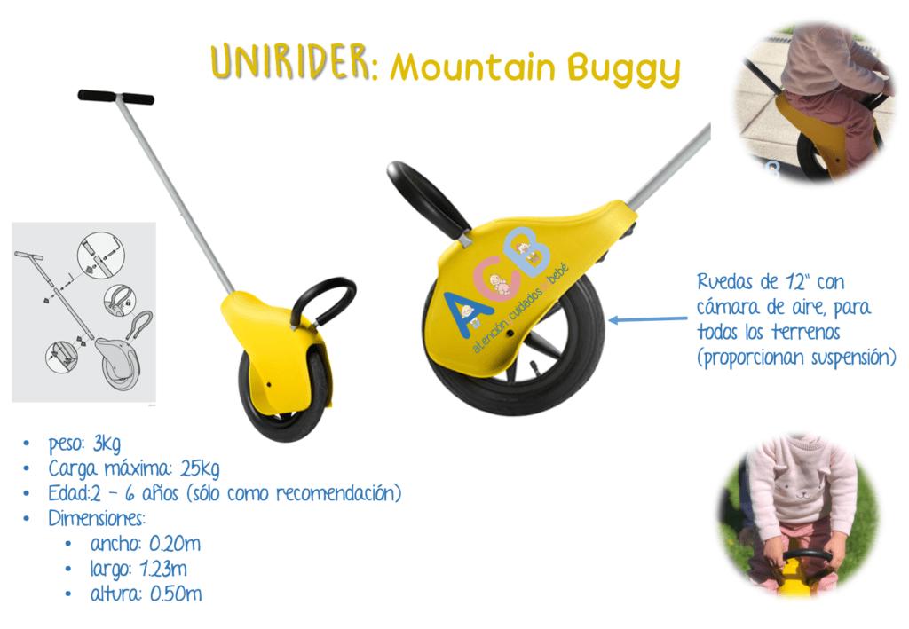 unirider mountain buggy paseo con niños